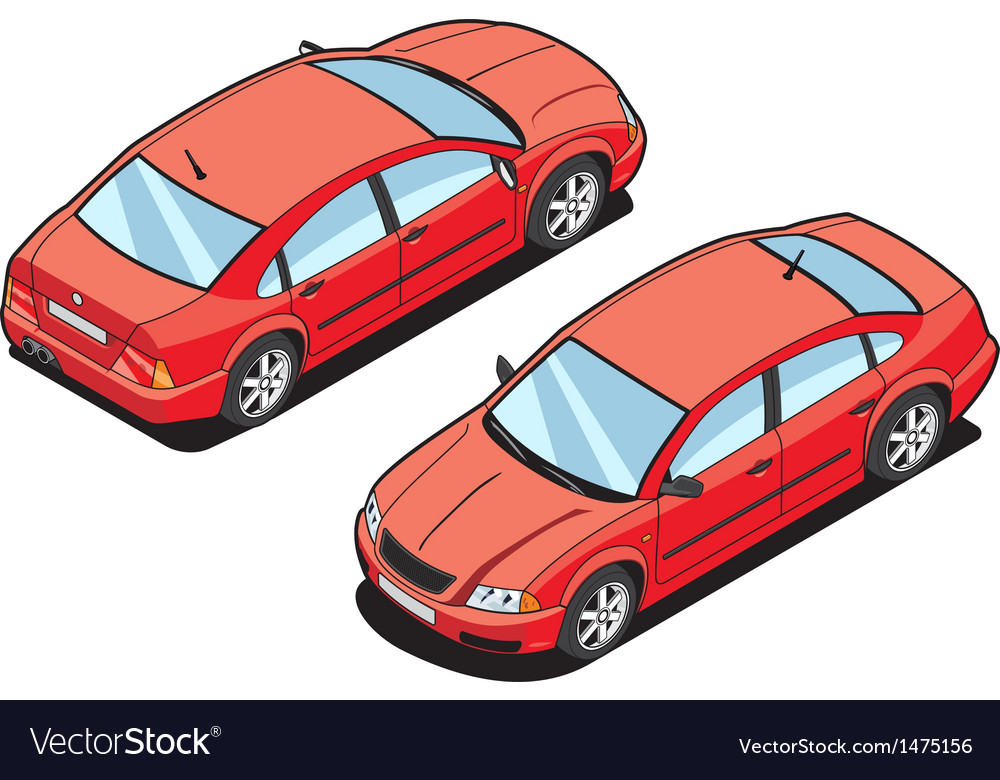 Isometric image of a car vector