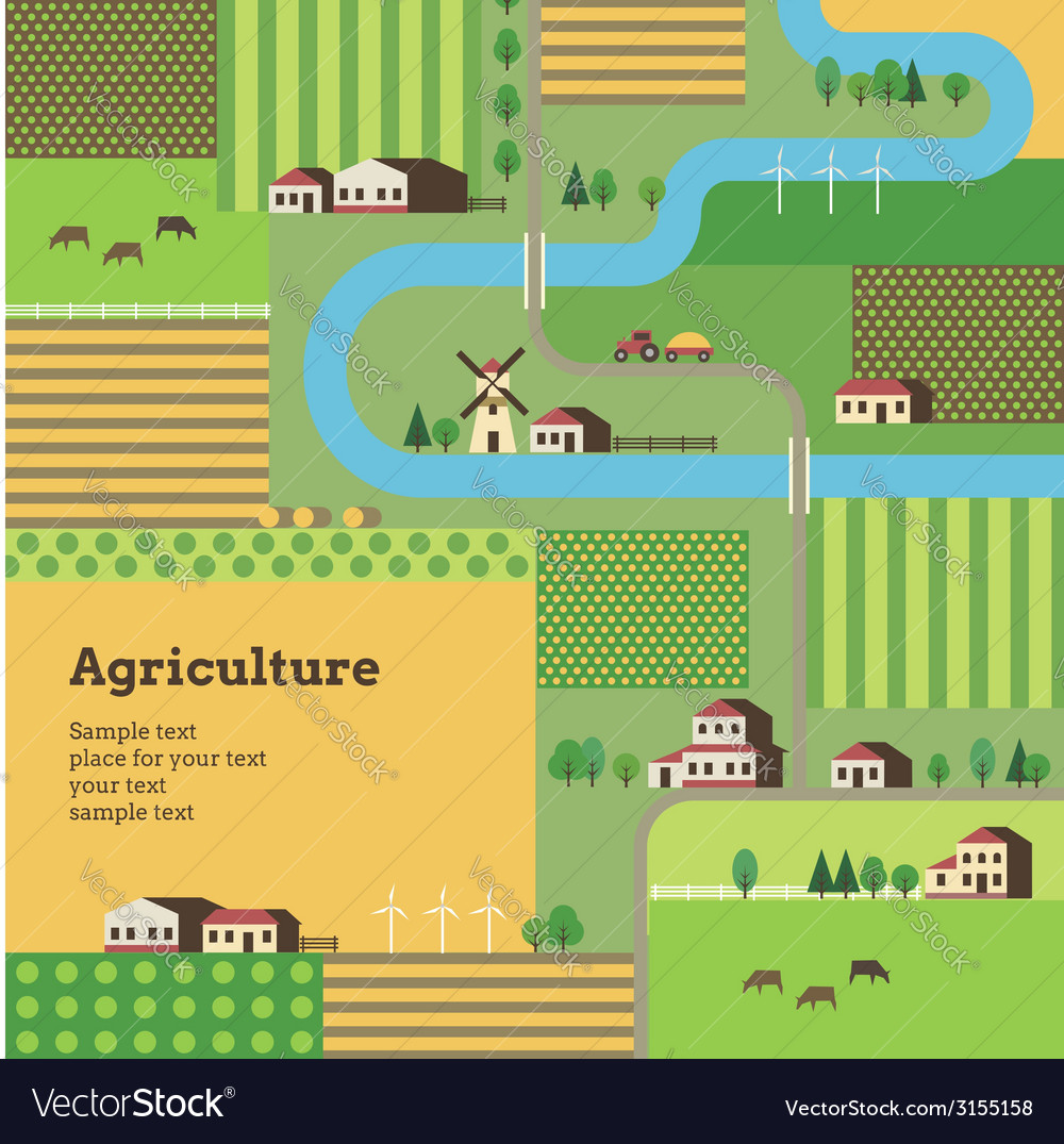 Agriculture background yellow vector