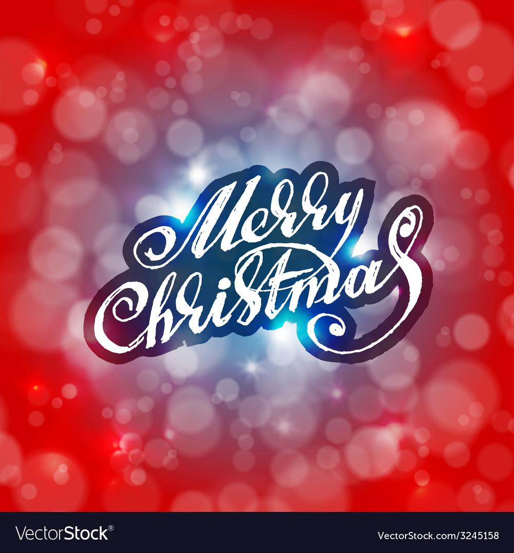 Merry christmas holidays card design vector