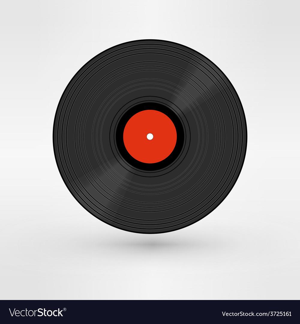 Old retro black record lp eps10 art vector