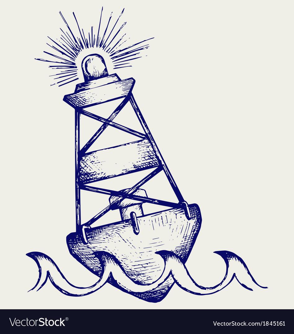 Warning buoy vector
