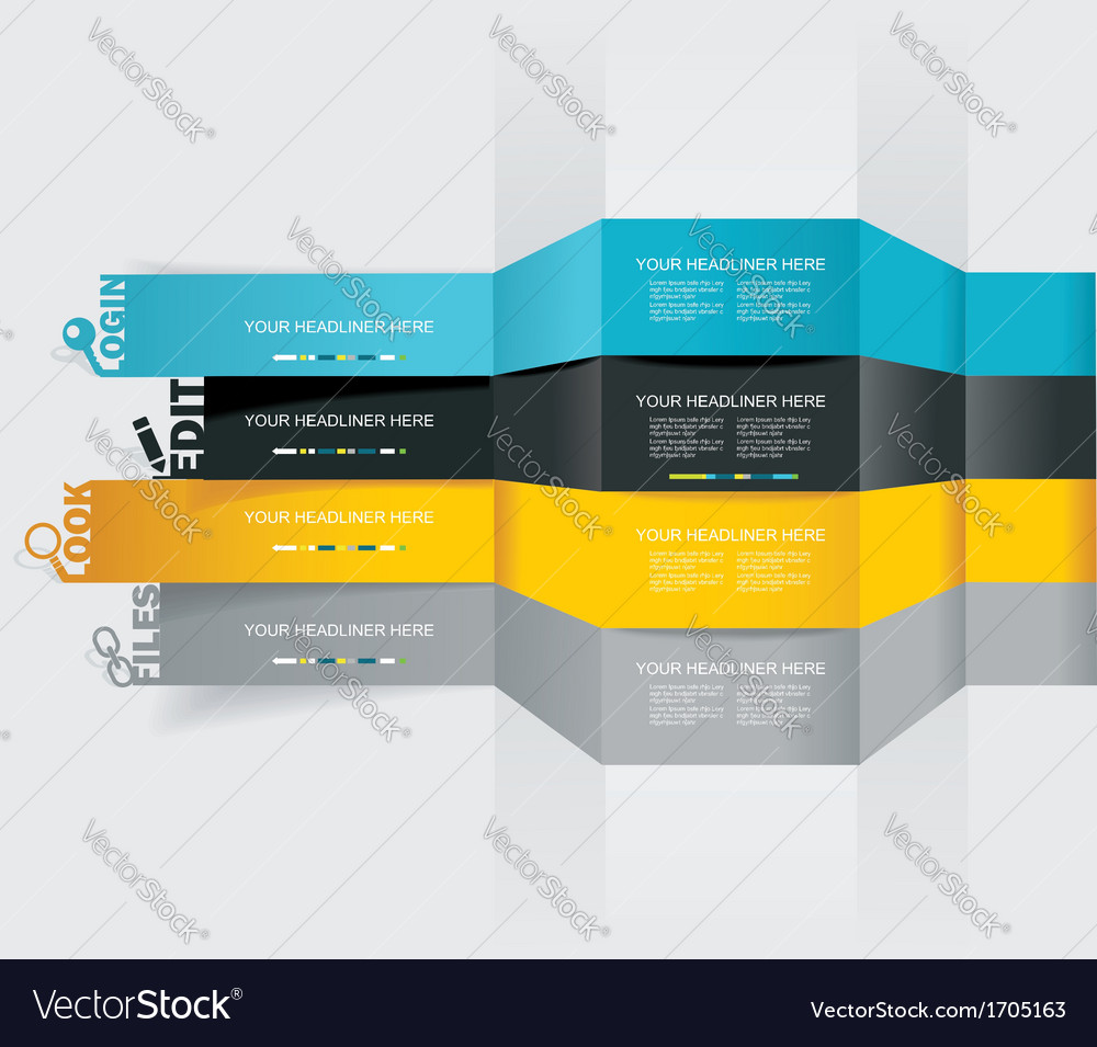 Web design template - horizontal lines in vector