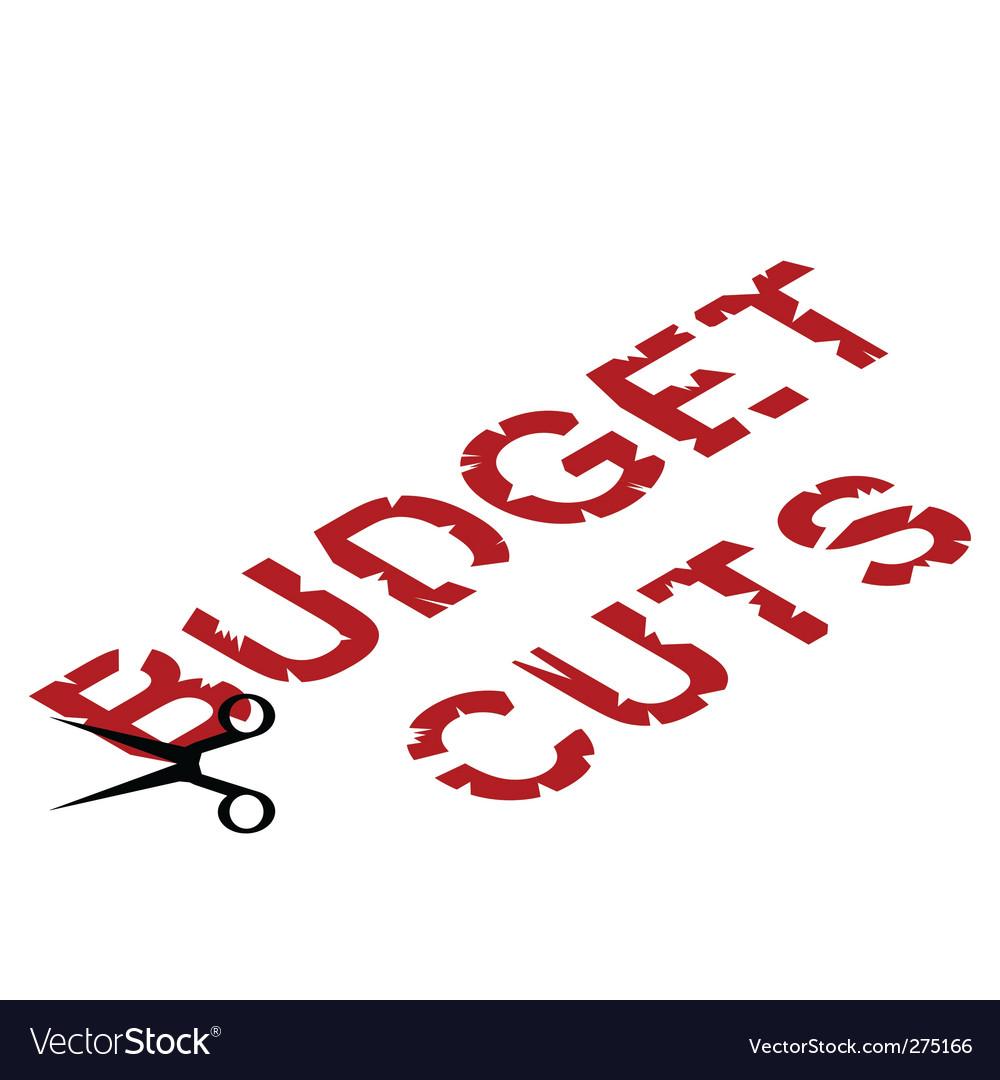 Budget cuts vector