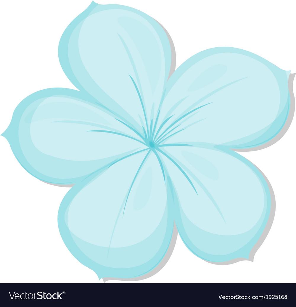 A five-petal flower vector