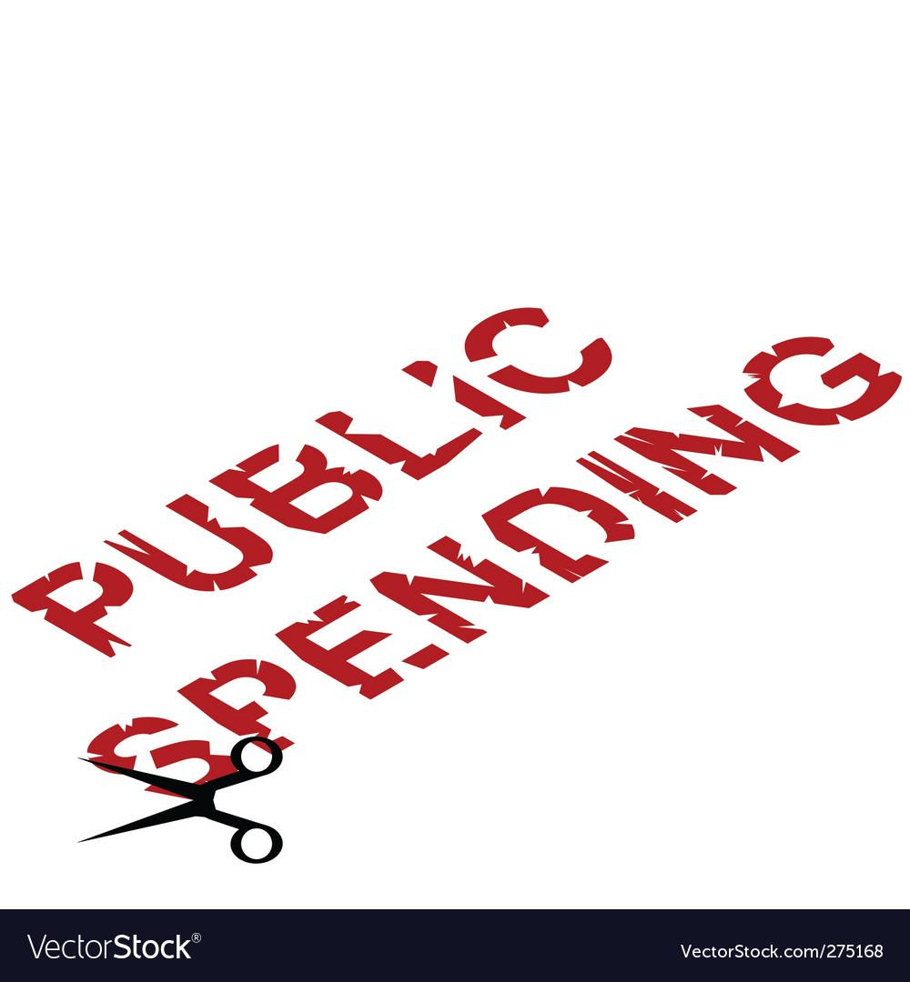 Public spending cuts vector