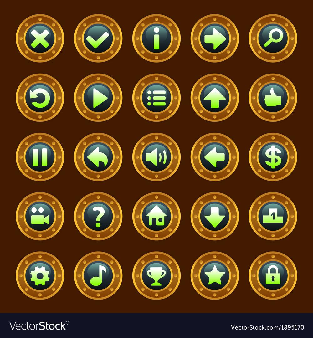 Steam punk buttons vector
