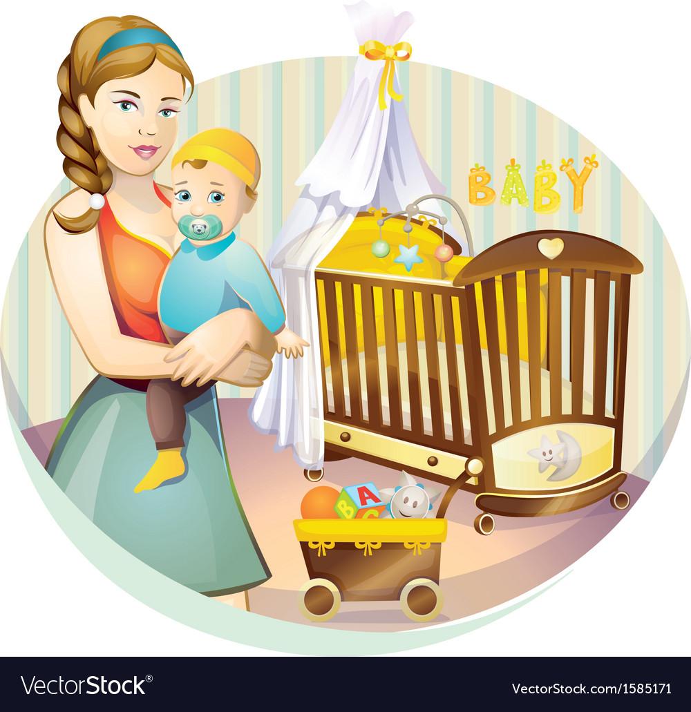 Mother nursery vector