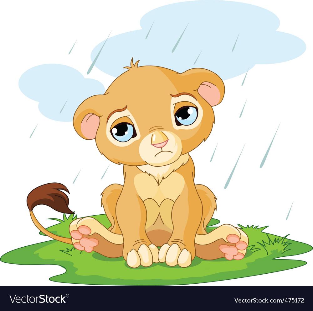 Cartoon lion cub vector