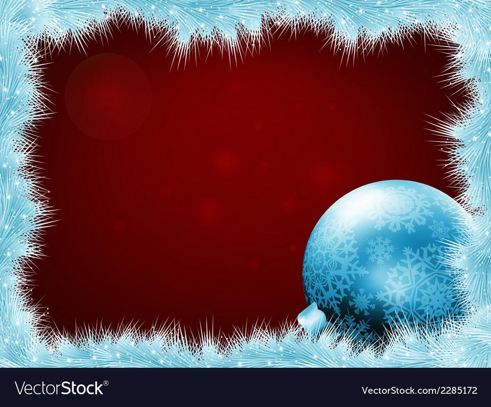 Christmas balls at the xmas glow background eps 8 vector