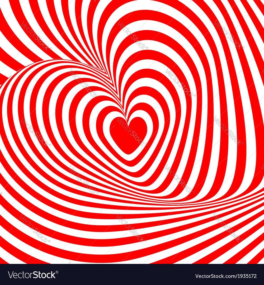Design heart swirl rotation background vector