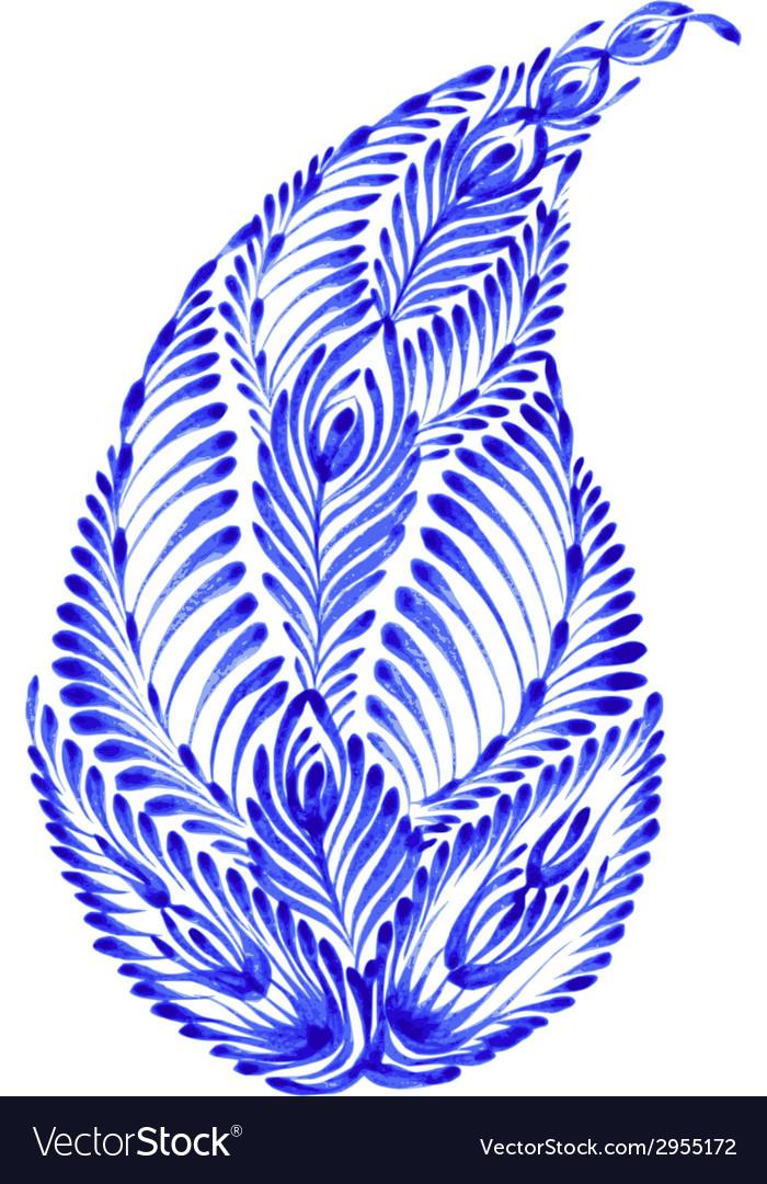 Floral decorative ornament paisley vector