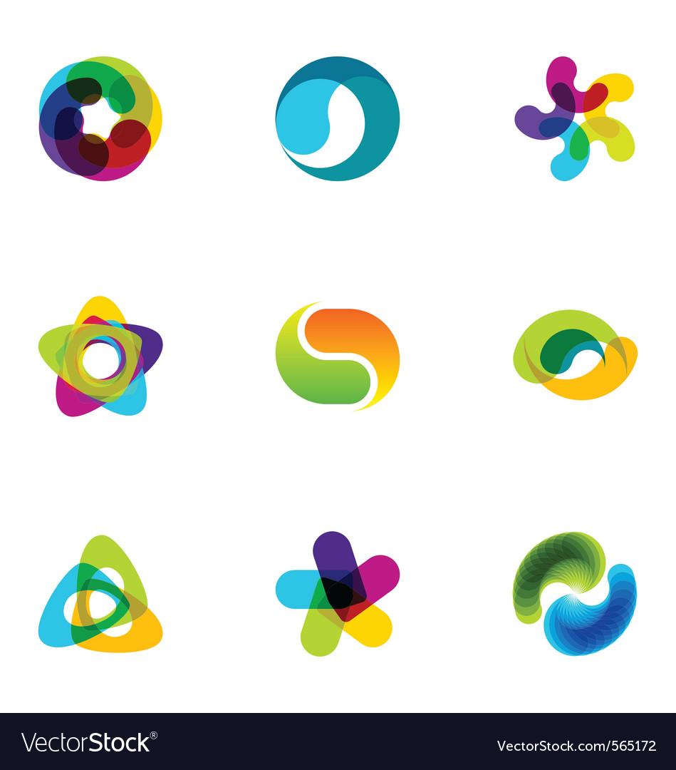 Logo design elements set 16 vector