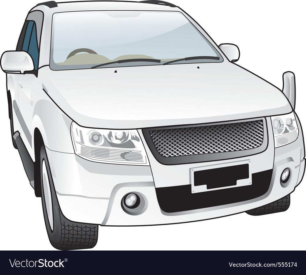 Luxurious sporty car vector