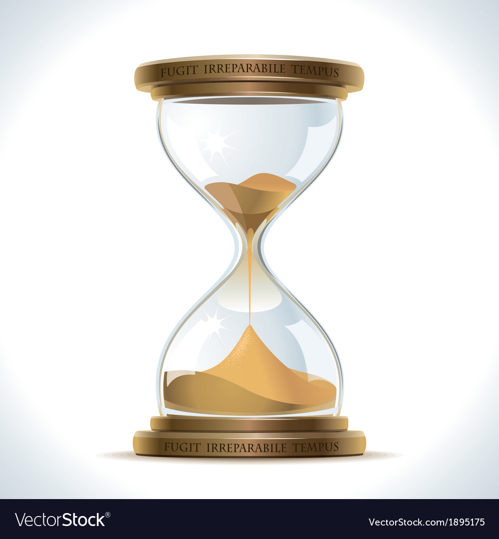 Old hourglass vector