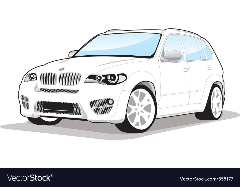 Sporty car vector