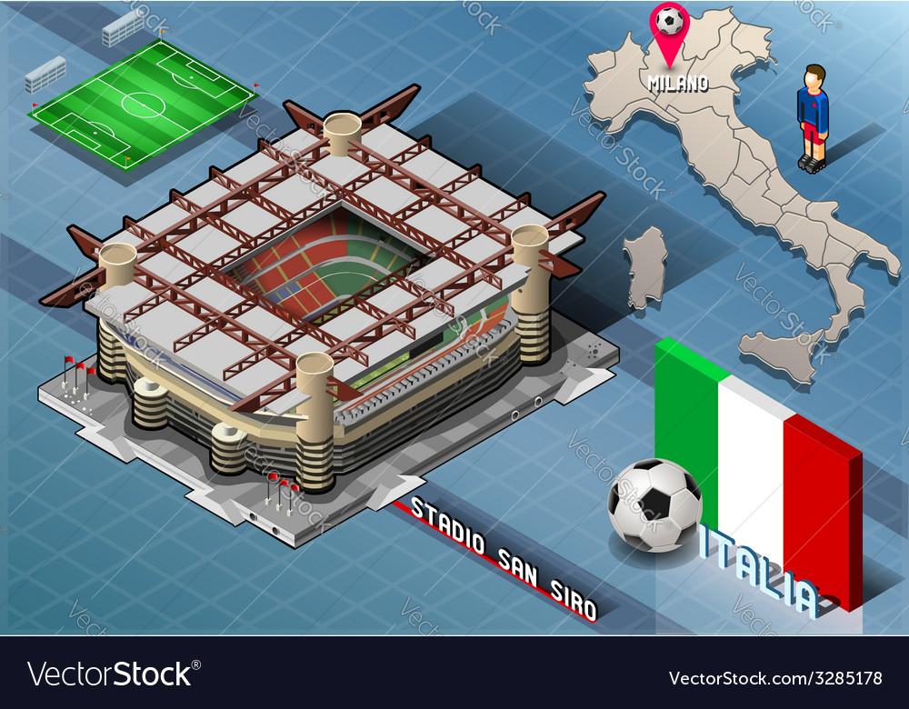 Isometric stadium san siro milan italy vector