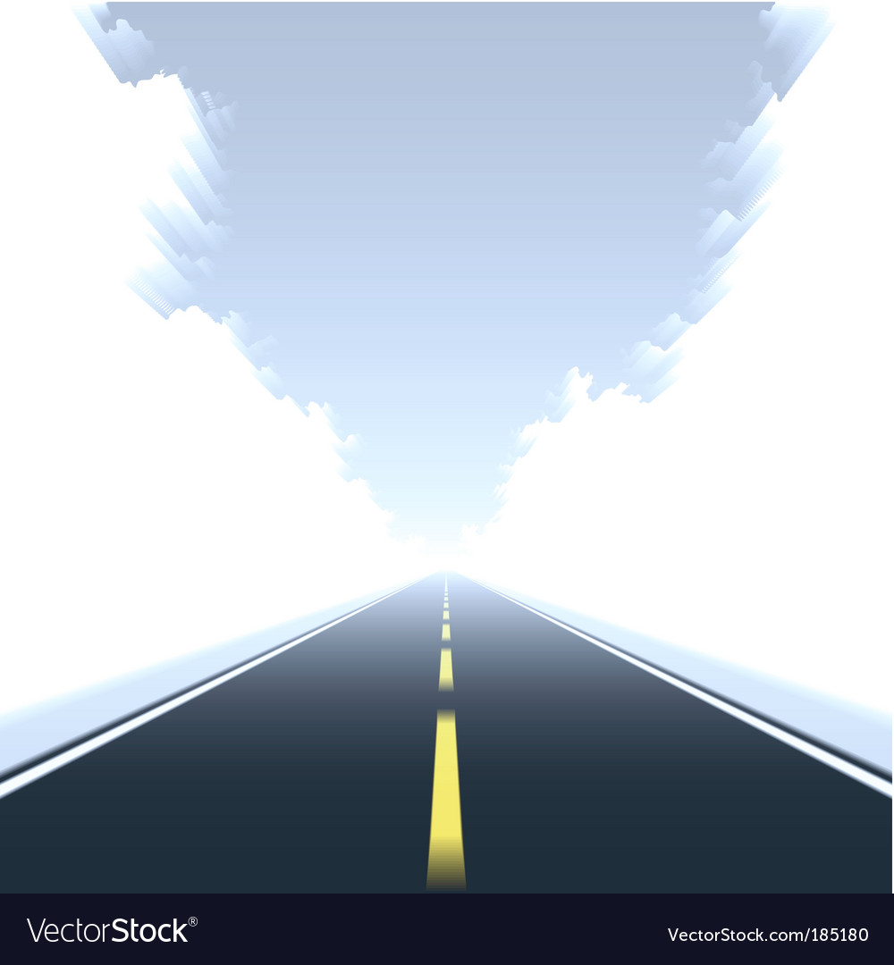 Straight road in motion vector
