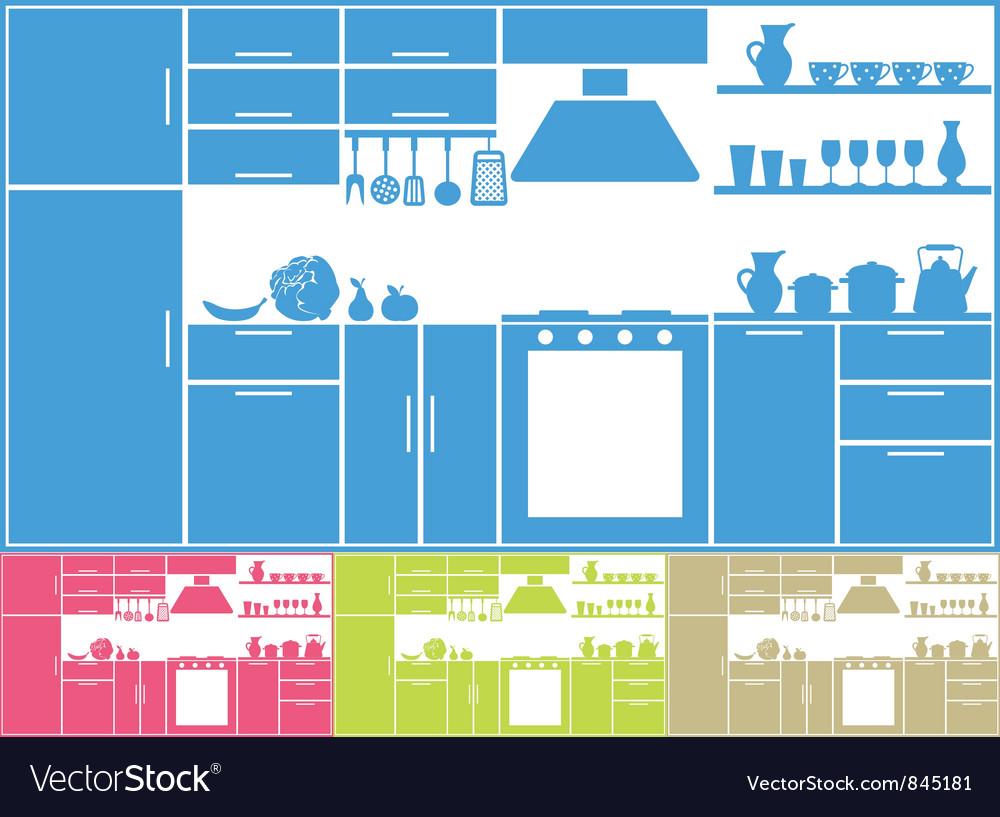 Kitchen silhouette vector