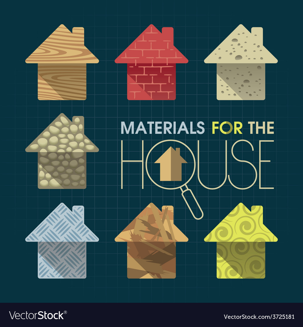 Materials for the house vector