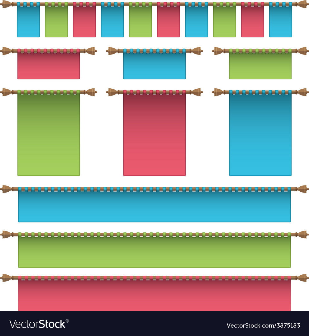 Hanging banners vector