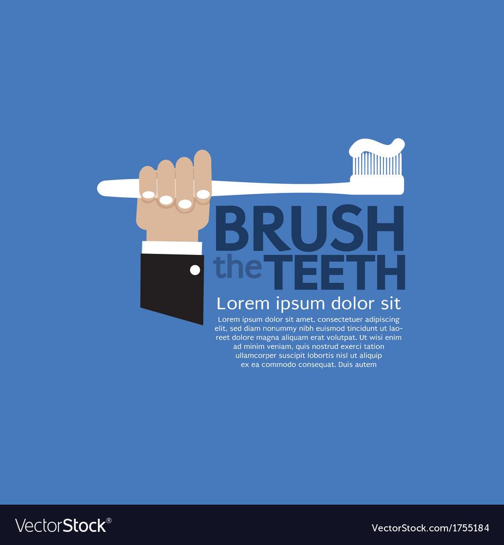 Teeth brushing vector