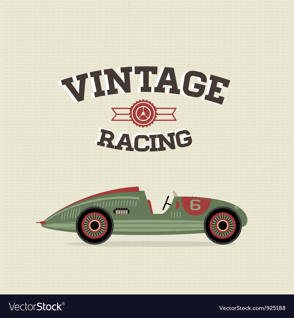 Vintage sport racing cars vector