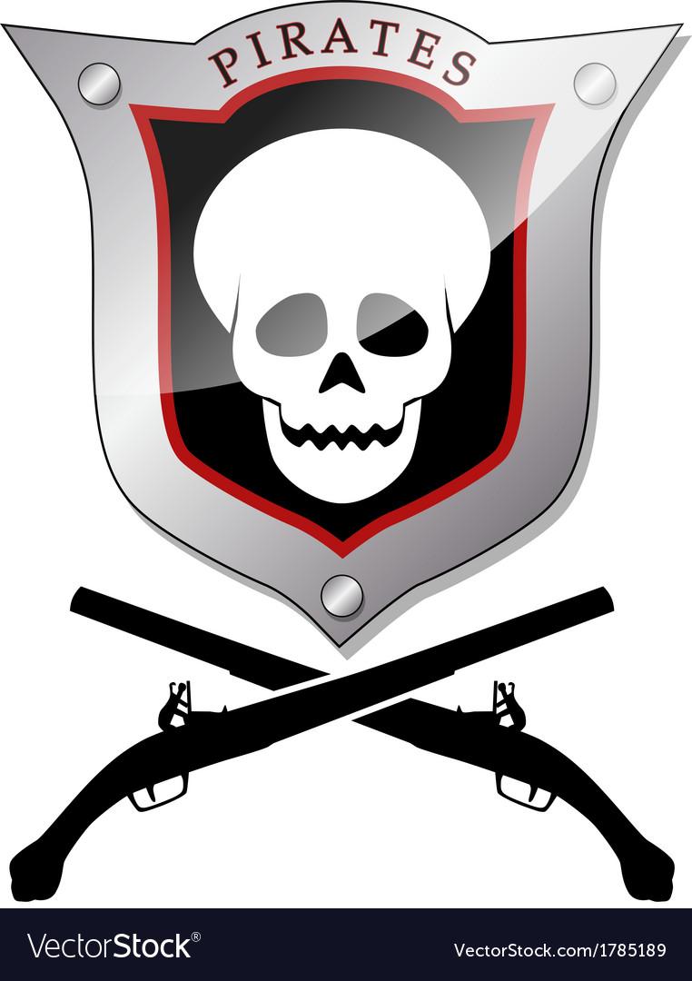 Pirate emblem vector