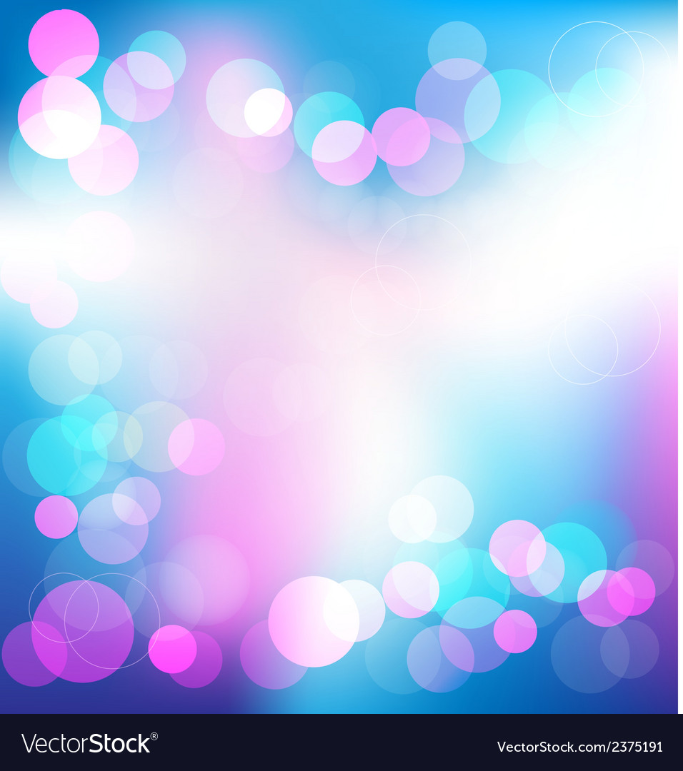 Colorful elegant abstract background with bokeh vector