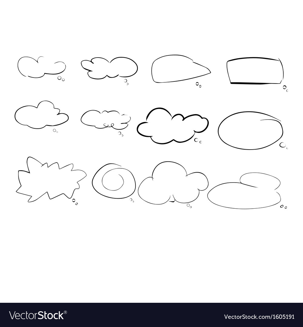 Speach cloud vector