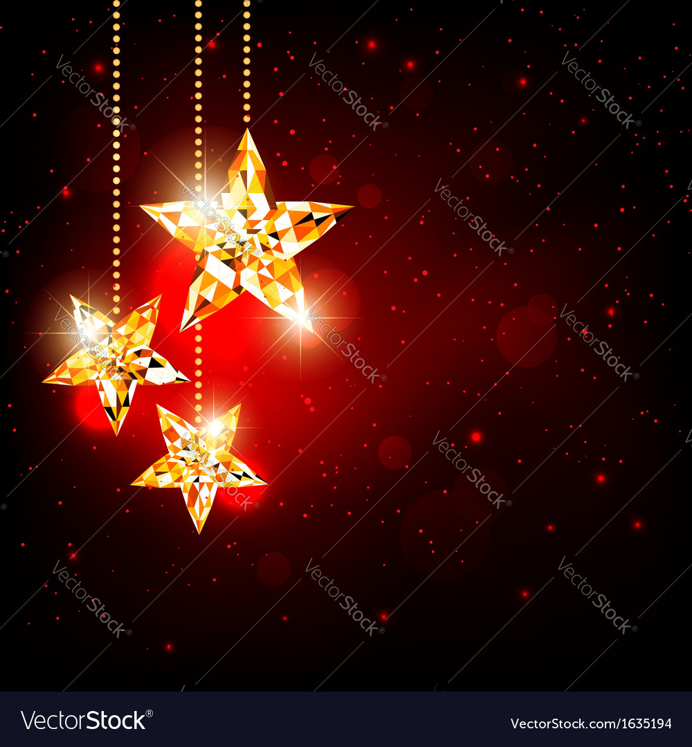 Sparkling christmas polygon star vector