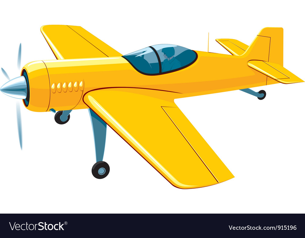 Flying sport airplane vector