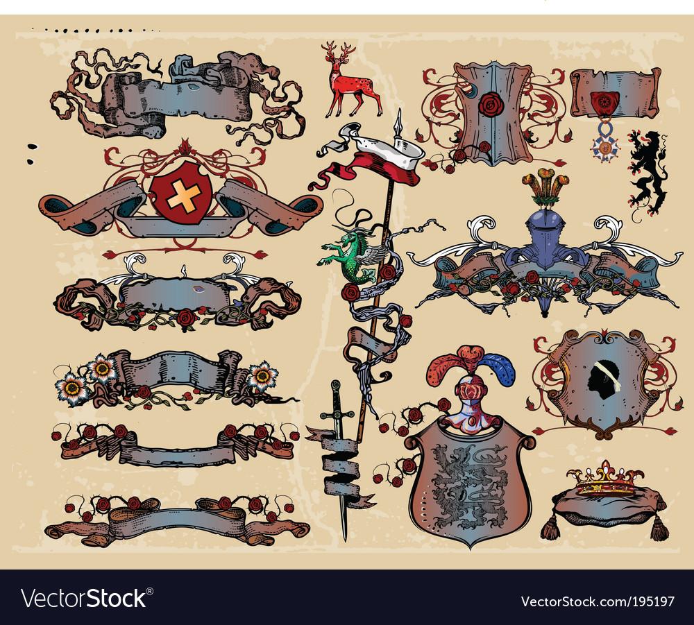 Heraldic elements vector