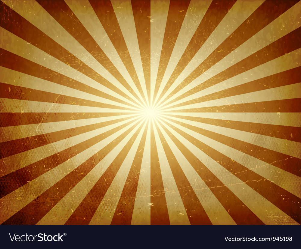 Distressed light burst background vector