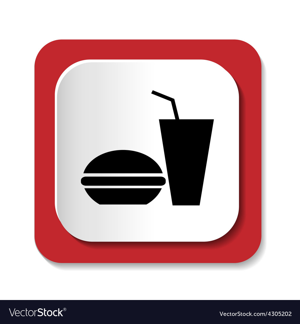 Icons fast food vector