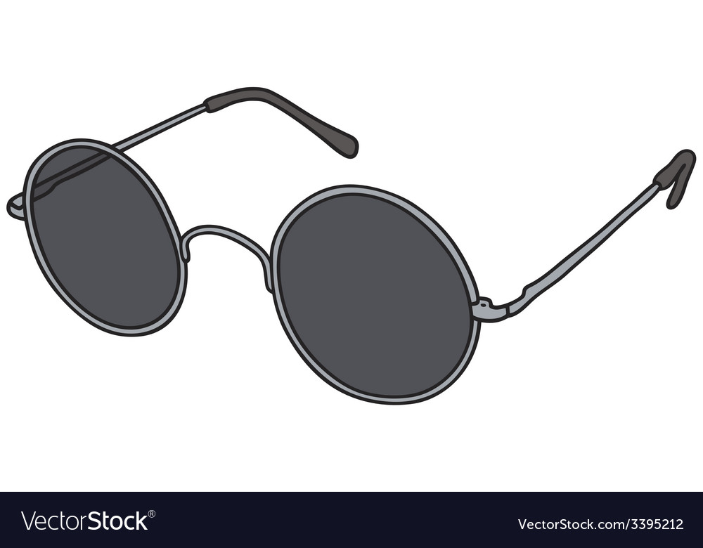 Black glasses vector