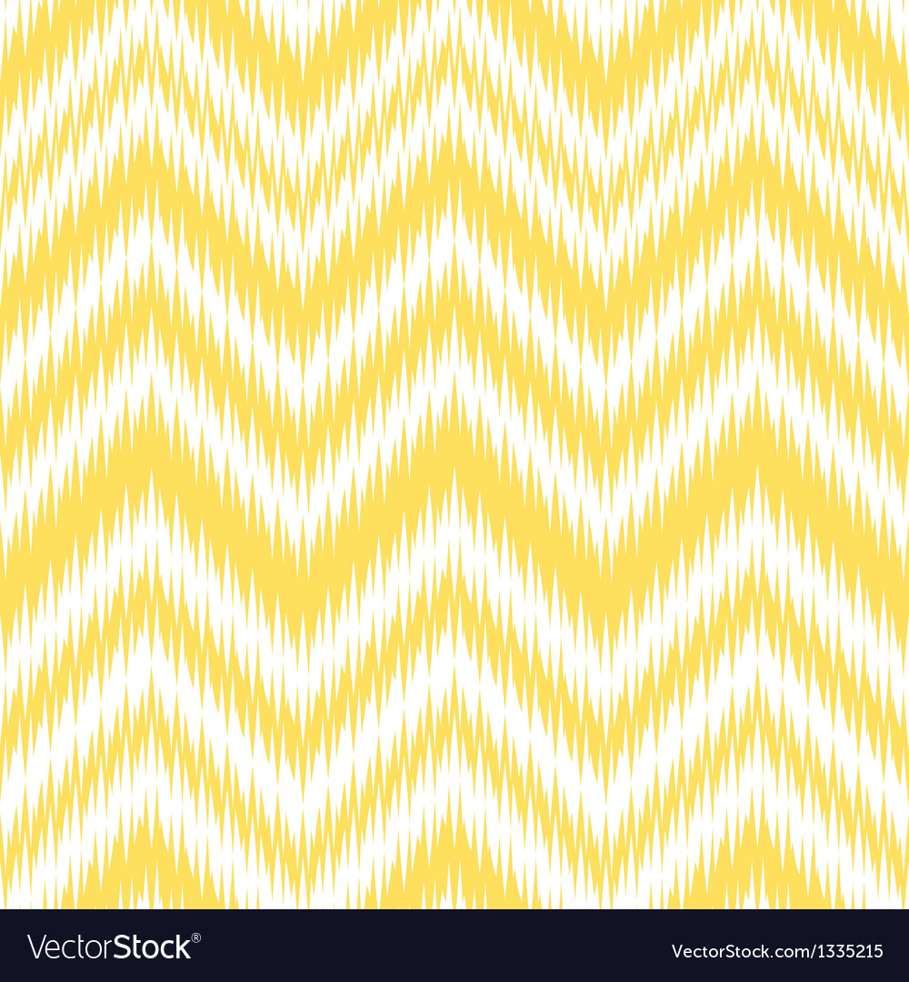 Yellow ikat chevron vector