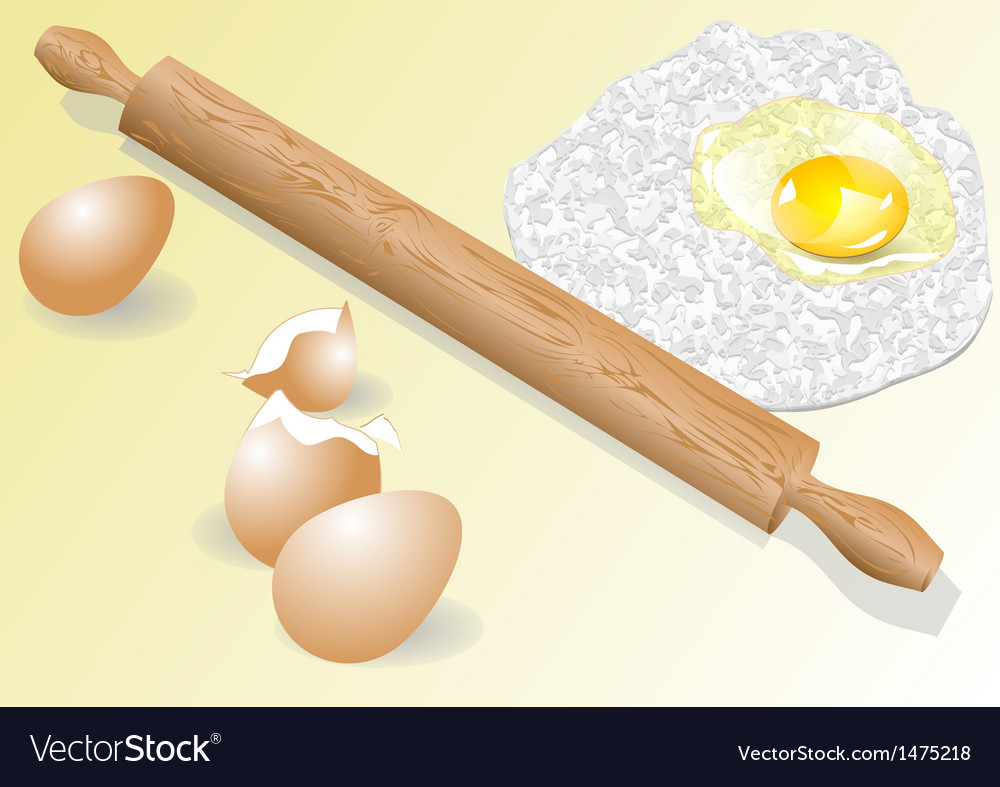 Meal and eggs vector
