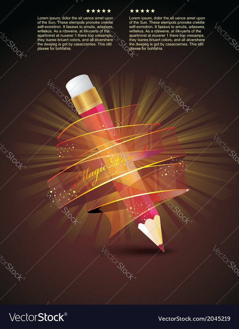 Creative template with pencil vector