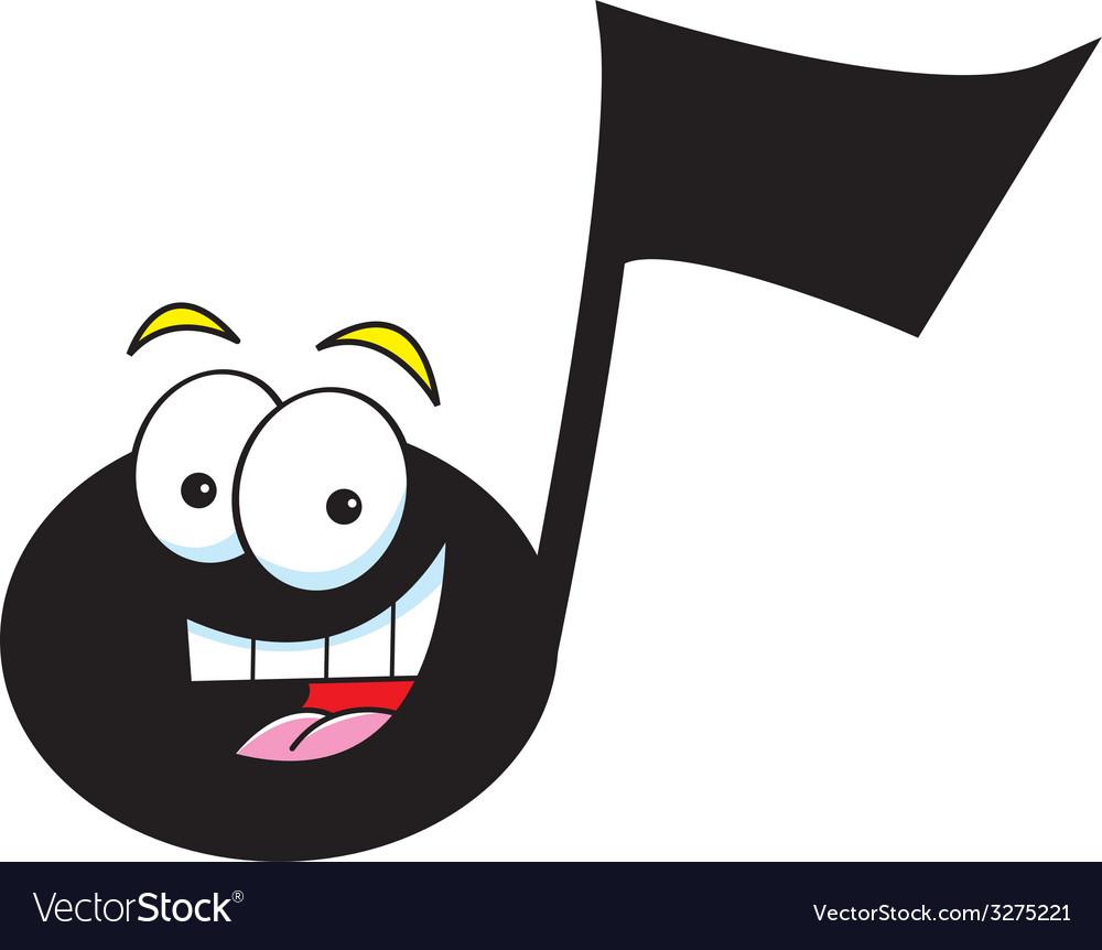 Cartoon musical note vector