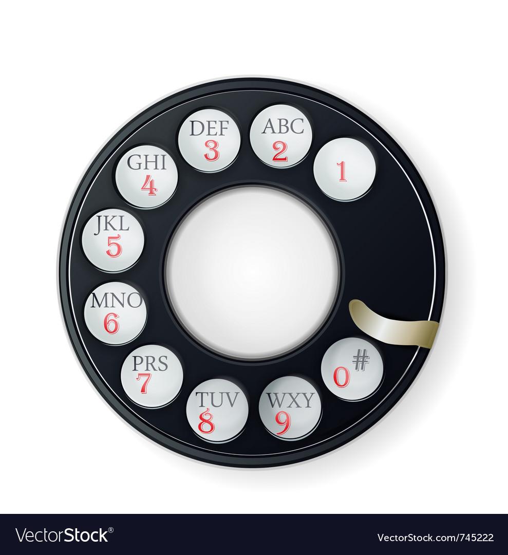 Rotary phone dial vector