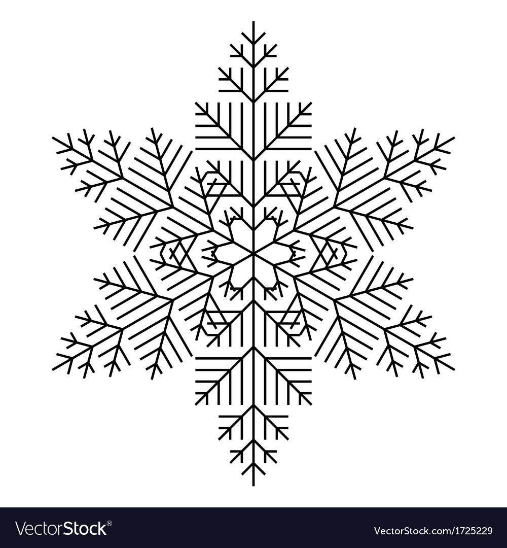 Simple snowflake vector