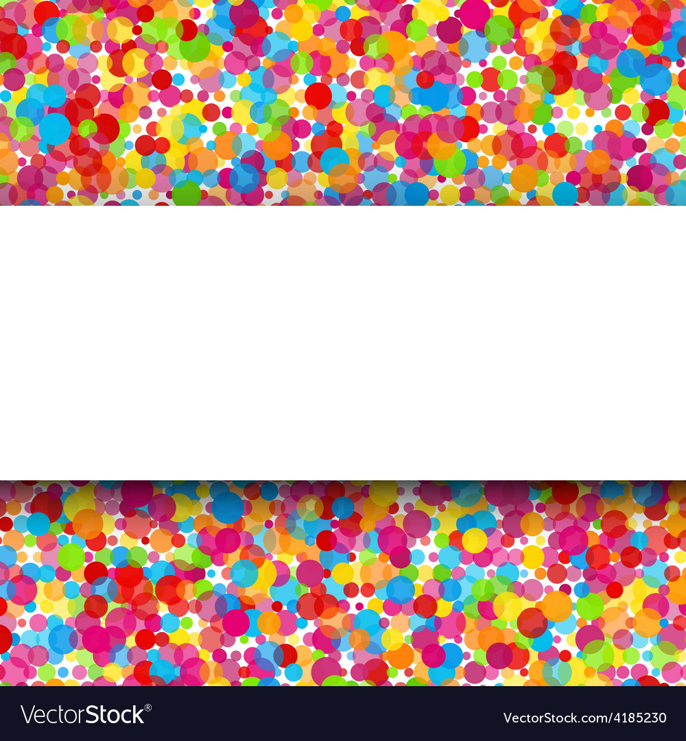 Colorful round celebration background vector