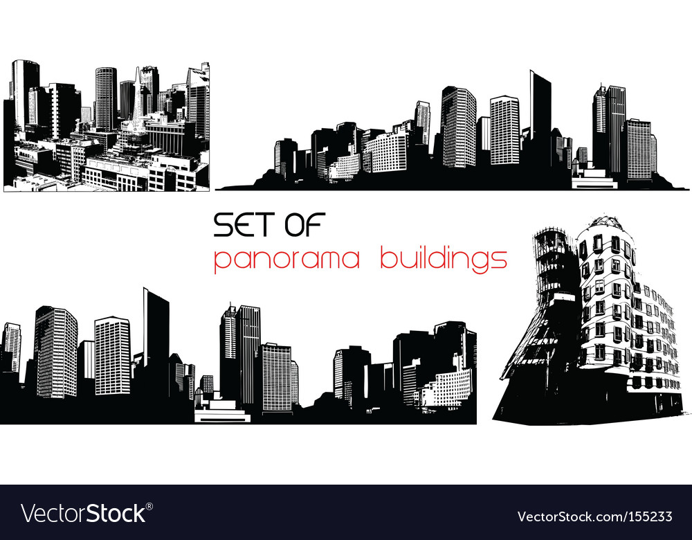 Panorama cities vector