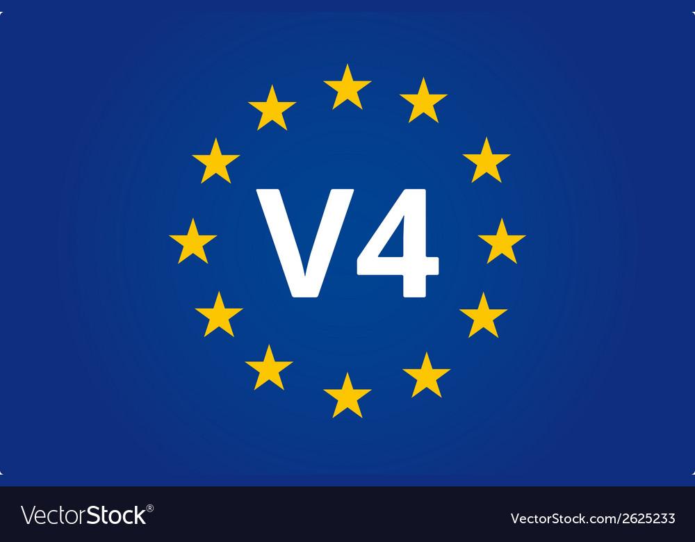 V4 eu flag vector