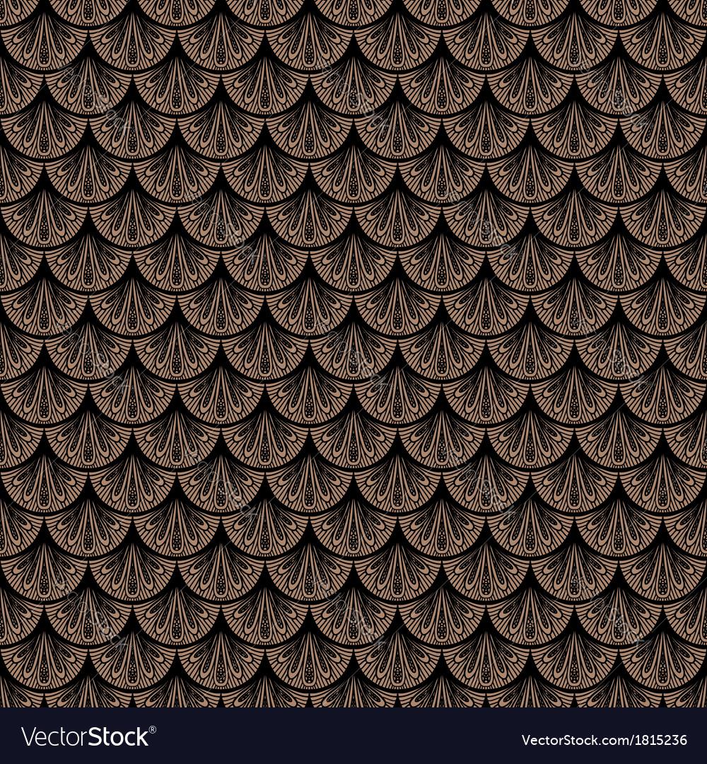 Art deco geometric pattern in brown color vector