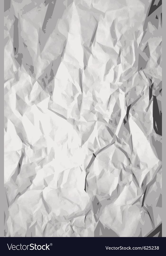 Crumpled paper texture vector