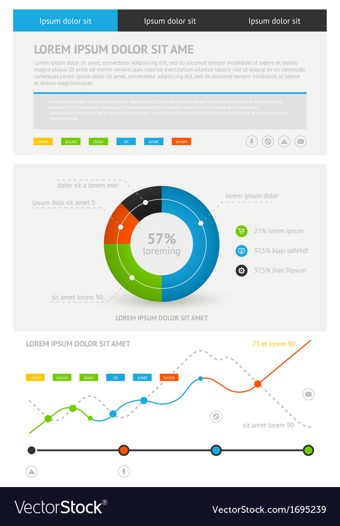 Elements of infographics stock vector