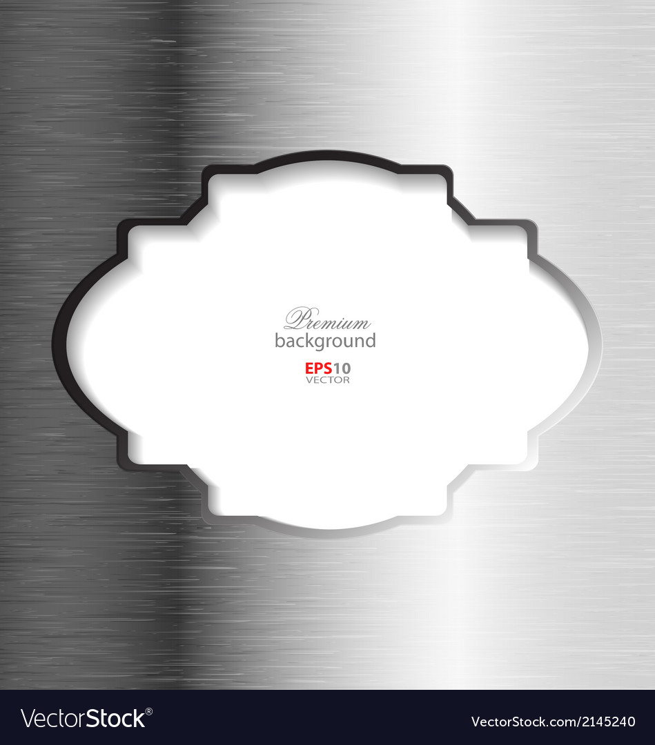Abstract brushed metal elegant background vector