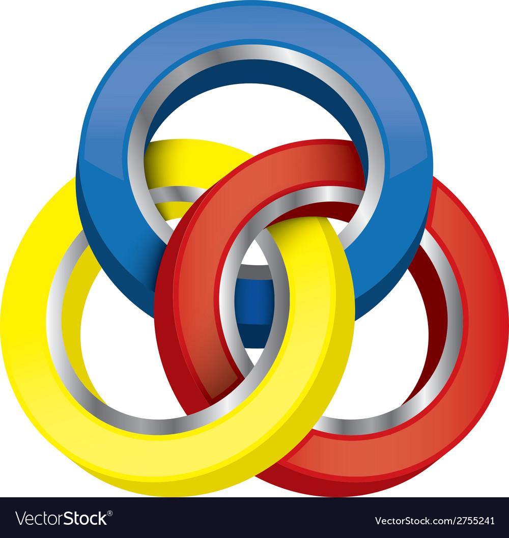 Three-circle vector