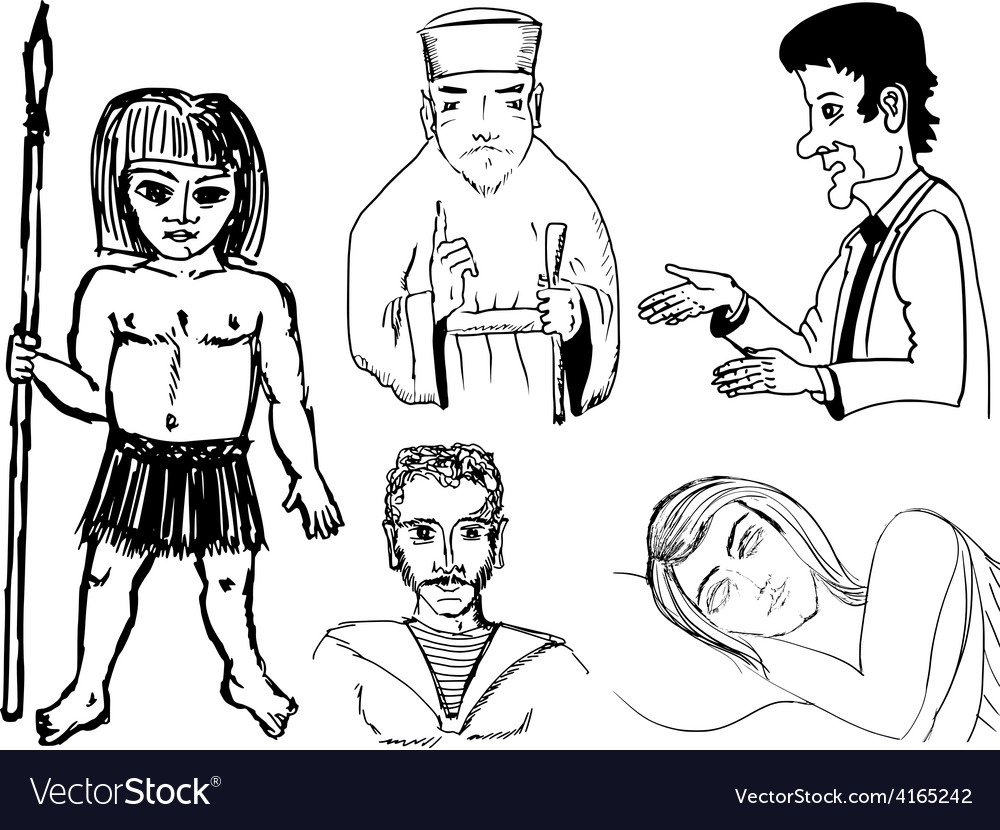 Set of of humans vector